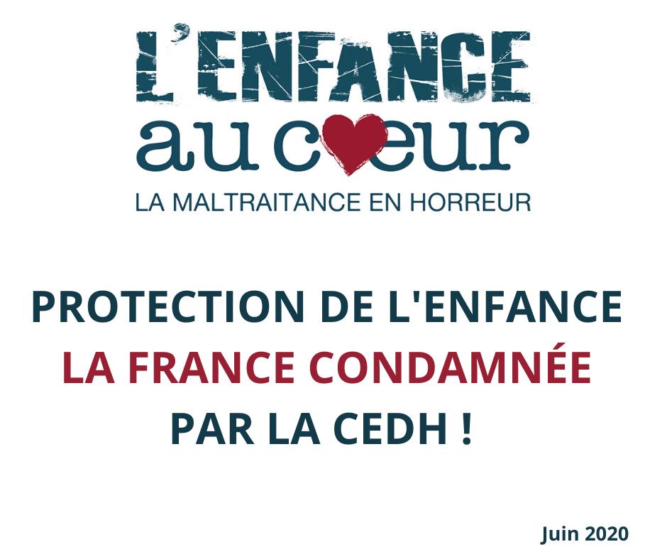 Protection de l'enfance : La France condamnée par la CEDH !